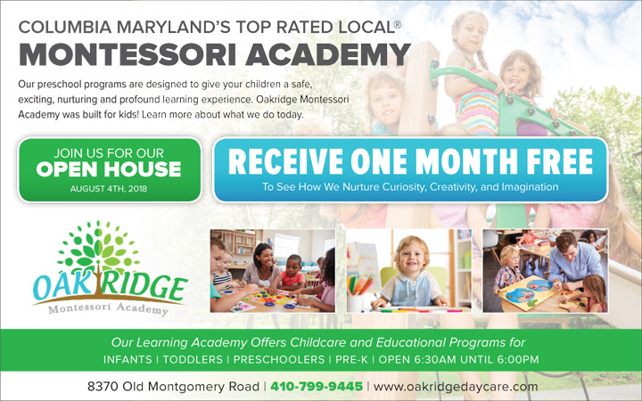 Promotions Day Care In Columbia Md Oakridge Montessori Academy